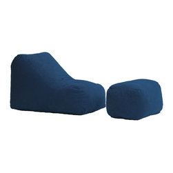 Comfort Research - Comfort Suede Blue Sky Wedge & Ottoman - All it takes is one sit to understand exactly why our one-of-a-kind Furniture Collection has brought bean bags out of your grandparent's dusty basement and into college campuses, bedrooms and living rooms around the world. With all sorts of sizes and colors available, all perfectly filled with our patented memory foam, the hardest part about sitting down on any Wedge is convincing yourself it's time to get up. Please note this item requires an additional shipping timeline of 10-14 days.