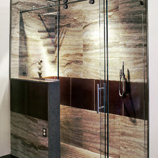 Modern Showers by Seifer Kitchen Design Center