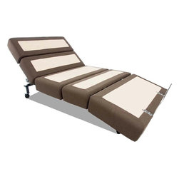 Mantua - Mantua Rize Contemporary Adjustable Bed, Queen - The Rize Contemporary adjustable bed is the most advanced bed in existence. The modular design combines function and fashion beautifully while the ergonomically advanced frame responds to your body's natural movements.