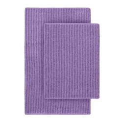 """Garland Rug - Bath Mat: Sheridan Purple 21"""" x 34"""" Bathroom 2-Piece Rug Set - Shop for Flooring at The Home Depot. Beautify your bathroom and make your feet happy with Sheridan Bath Rugs. These rugs will compliment any bathroom decor. The distinctive stripe pattern gives a modern, but yet traditional sleek design. Sheridan is made with 100% Nylon for superior softness and colorfastness. Proudly made in the USA."""