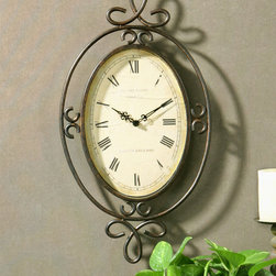 "6722 Hamlin, Clock by Uttermost - Get 10% discount on your first order. Coupon code: ""houzz"". Order today."