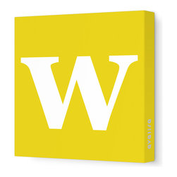 "Avalisa - Letter - Lower Case 'w' Stretched Wall Art, 12"" x 12"", Dark Yellow - Spell it out loud. These lowercase letters on stretched canvas would look wonderful in a nursery touting your little one's name, but don't stop there; they could work most anywhere in the home you'd like to add some playful text to the walls. Mix and match colors for a truly fun feel or stick to one color for a more uniform look."