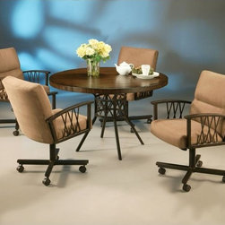 Pastel Furniture - Ravenwood 5 Piece Dining Table Set in Autumn Rust - RW510-471 - Set includes Dining Table and 4 Chairs