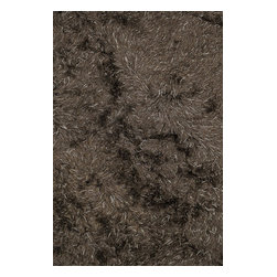 """Loloi Rugs - Loloi Rugs Royal Shag Collection - Brown, 3'-6"""" x 5'-6"""" - The Royal Shag lives up to its name with beautifully subtle variances in color. This sophisticated yet playful collection out of India features lush, hand-crafted strands of polyester."""
