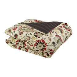 """Mystic Valley - Mystic Valley Traders Park Avenue - Super King Duvet Cover - The Park Avenue duvet cover is fashioned from the Avalon fabric, reversing to the railroaded Brooks fabric, and finished with a mitred flange; it is fully reversible.  As with all Mystic duvet covers, it has a hidden zipper and interior ties in each corner to hold the duvet fast; super king 114""""x98"""""""