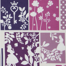 kids decor purple Alice in Wonderland Kokka fabric Japan
