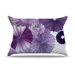 "Kess InHouse - Heidi Jennings ""Lavender Wishes"" Purple Pillow Case, King (36"" x 20"") - This pillowcase, is just as bunny soft as the Kess InHouse duvet. It's made of microfiber velvety fleece. This machine washable fleece pillow case is the perfect accent to any duvet. Be your Bed's Curator."