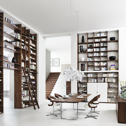 Cubus Bookcase - Amazing contemporary bookcase shelf system in solid wood. Team7 produce truly amazing innovative and highly engineered furniture.