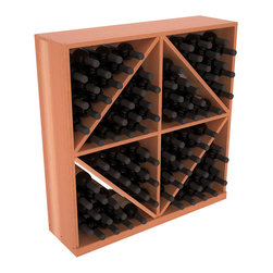 Wine Racks America - Solid Diamond Storage Bin in Redwood, Satin Finish - This solid wooden wine cube is a perfect alternative to column-style racking kits. Holding 8 cases of wine bottles, you can double your storage capacity with back-to-back units without requiring more access area. This rack is built to last. That is guaranteed.