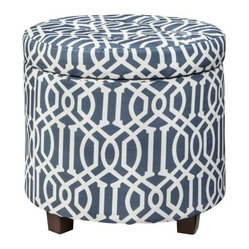 Round Storage Ottoman Products on Houzz