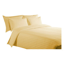 400 TC 15 Deep Pocket Sheet Set with 1 Flat Sheet Strips Gold, Full XL - You are buying 2 Flat Sheet (81 x 96 inches), 1 Fitted Sheet (54 x 80 inches) and 2 Standard Size Pillowcases (20 x 30 inches) only.