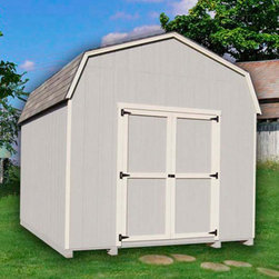 Little Cottage - Little Cottage 10 x 8 ft. Value Gambrel Barn Precut Storage Shed - 6 ft. Barn Mu - Shop for Sheds and Storage from Hayneedle.com! Additional FeaturesInterior measures 9.4L x 8.1H feetDoor measures 4W x 6H feetDouble door for easy entry and exitSwivel door latchFeatures aluminum corner trimIncludes all fastenersRoof design provides extra headroom Store your outdoor equipment and storage in style with the Little Cottage 10 x 8 ft. Value Gambrel Barn Precut Shed Kit - 6 ft. Barn. Beautiful and practical this shed arrives at your home precut and ready to assemble. Crafted from wood with Smartside siding that is 98% primed along with the trim this shed is designed to last. The double doors make it easy to move items in and out of the shed while the swivel door latch is easy to use. A beautiful and practical addition to any home you'll love the fact that this shed is also designed to provide extra headroom and potential storage space.About The Little Cottage CompanyNestled in the heart of Ohio's Amish country The Little Cottage Company resides in a quaint slow-paced setting where old-fashioned craftsmanship and attention to detail have never gone out of style. Their experienced carpenters and skilled designers take great pride in creating top-quality pre-built models and Do-It-Yourself kits of playhouses storage sheds and more.
