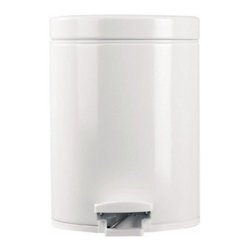 Brabantia White 1 Gallon Trash Can - About Brabantia Kitchen and HousewaresBrabantia products are designed for today, but with a strong nod to the future. With a wide line of laundry bags, stainless steel garbage cans, trash cans, ironing boards, and so much more, Brabantia is a company you can rely on for quality.