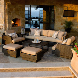Portofino™ Comfort 7pc Deep Seating in Espresso - Our bestselling set just got even better. Introducing the Portofino™ Comfort 7-piece Deep Seating Group, offering unparalleled quality, comfort and value in outdoor living.