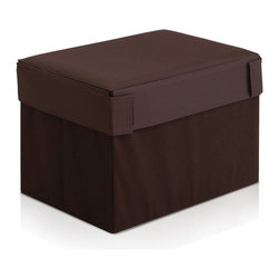 Furinno - Furinno Oxford 10060R1BK Square Storage, Espresso, Rectangular - Furinno Oxford Series Foldable Storage Stool Ottoman is made for simple yet functional purposes. 1) Structure: The unit serves not only as storage compartment, it serves as a stool for kids and adults. 2) Material: The outer layer cover is made of Oxford fabric and non-woven fabric. The insert walls are made of MDF fiber board. The top cover seat is filled with sponge for seating comfort. The materials are environmental friendly and overall durable. 3) A simplistic and minimalist furnishing attitude is expressed through this series of furniture. Most of our customers love to put our multipurpose furniture into kids usage as our products fit in your space and fits on your budget and most importantly size perfect for juniors.