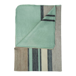 Shupaca - Seafoam Blanket/Throw - Say goodbye to sleepless nights — or even sleepless afternoons. The incredibly cozy blend of acrylic and alpaca fibers, highlighted in restful hues of seafoam green, tan, beige and charcoal, will keep you warm and comfortable.