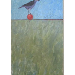 Perched (Original) by Diane Ingalls-Reid - A lighter side of my work! I adore birds, their form, songs and behavior. I love the idea of these delicate creature creating balance in an unstable world.