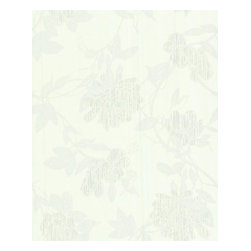 Graham and Brown - Steve Leung Jiao Wallpaper - White - The Steve Leung Jiao wallpaper is a beautiful contemporary climbing floral trail wallpaper with shimmering highlights and flecks of metallic detail giving a three dimensional effect.