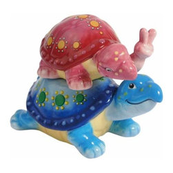 WL - 3 Inch Piggyback Turtles Collectible Salt and Pepper Shakers - This gorgeous 3 Inch Piggyback Turtles Collectible Salt and Pepper Shakers has the finest details and highest quality you will find anywhere! 3 Inch Piggyback Turtles Collectible Salt and Pepper Shakers is truly remarkable.