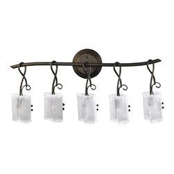 Cyan Design - Cyan Design Lighting 531-5-58 Five Lamp Vanity - Cyan Design 531-5-58 Five Lamp Vanity