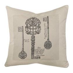 Homeware Decorative Accent Pillows - 20x20 3 Key Square Pillow