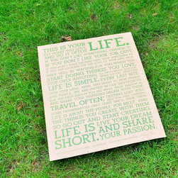 Holstee - Holstee- Poster Terra Manifesto 18 x 24'' - - Display these words of inspiration as a daily reminder to live your dream.