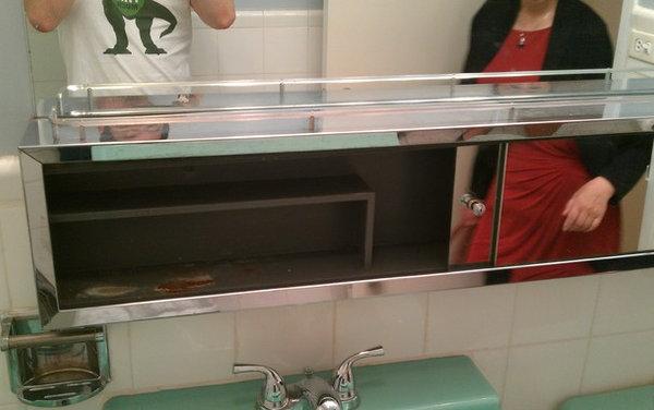 Shall I trash this 60's green retro bathroom?