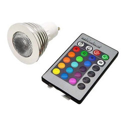 TorchStar - RGB Color Change LED Light Bulb Spotlight Remote Bead Surface Lens - Overview
