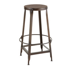 'Irongate' Stool - This isn't cozy, but it sure looks cool. It would be best for infrequently used bars that would look strange without stools.