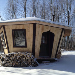 14' rough cut yurt - Adirondack Yurts
