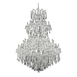 Elegant Lighting - Elegant Lighting 2801G54C/RC Maria Theresa Collection Large Hanging Fixture - Elegant Lighting 2801G54C/RC Maria Theresa Collection Large Hanging Fixture