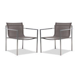 Yuna I Garden Chair Set - Currently out of stock. - The Yuna I Chair features a comfortable seat and a clean, steel frame. It's the ideal place to spend some time in.
