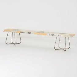 Drawing Study Bench - If a catchall table isn't your style, choose a cool bench for the entryway. This one from Anthropologie is long and slim and has a great silhouette.