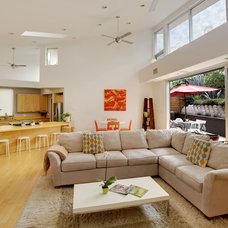 Modern Living Room by John Muir Photography