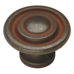 Hickory Hardware - Manchester Rustic Iron Cabinet Knob - Refreshing in its simplicity, Rustic style highlights natural beauty and a rugged, resilient spirit.  Thanks to the unpretentious roots, organic textures, shapes and natural warmth, its become as popular in the heart of the city as it is out in the woods.