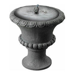 "Kenroy - Kenroy-50031CON-Garden Urn - 12"" Outdoor Table Fountain - At just 12"" high, this small urn makes a perfect accent to smaller gardens and patios. Solar powered, Garden Urn comes on when sun hits the panel."