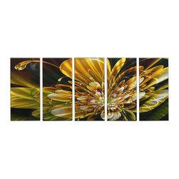 Matthew's Art Gallery - Metal Wall Art Abstract Modern Contemporary Sculpture Wall Decor Gold Flower - Name: Gold Flower