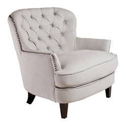 Watson Natural Linen Upholstered Club Chair