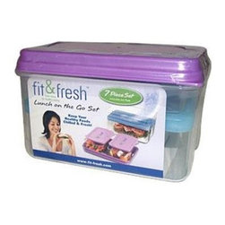 Fit And Fresh Lunch Set With Removable Ice Pack - 1 Container - MEDport Fit and Fresh Lunch Set with Removable Ice Pack Description: