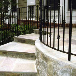Iron Handrail and Patio Fencing - Designed and built by Land Art Design, Inc.