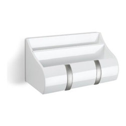 Umbra - Umbra Cubby Mail & Key Organizer, White - It offers convenient storage for essentials such as keys, glasses, phones, mail and more. Concealed mounting hardware included. Coordinate your look with the Flip family of wall hooks by Umbra.