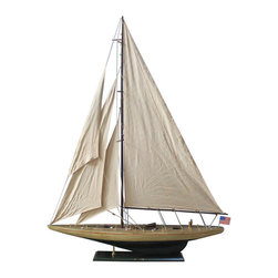 """Handcrafted Model Ships - Rustic Enterprise 60"""" - Wooden Rustic Sailboat - Not a model ship kit"""