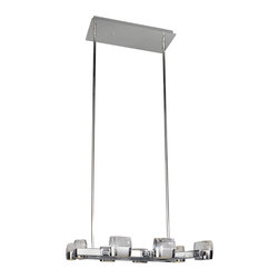 ET2 Lighting - ET2 Lighting E22899-89PC Volt LED Chrome Multi-Light LED Pendant - ET2 Lighting E22899-89PC Volt LED Chrome Multi-Light LED Pendant