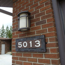 House Numbers by The Tile and Iron Studio