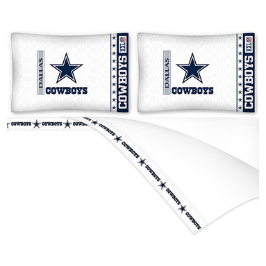 Sports Coverage - NFL Dallas Cowboys Football Full Bed Sheet Set - Features: