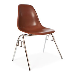 Furniture Source Worldwide - Premium Quality Stacking Retro Dining Side Chair, Set of 6, Brown - This collection is also highly functional and versatile thanks to its waterfall seat edge, high back rest and stacking character.
