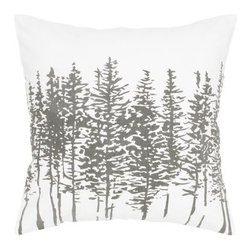 Rizzy Home Off White Tree Pattern Decorative Throw Pillow - Naturally stunning, the Rizzy Home Off White Tree Pattern Decorative Throw Pillow features the silhouette of a tree line in your choice of color. This decorative pillow has a 100% cotton fabric cover with removable polyester insert and a hidden zipper. Machine or hand wash the cover in cold water and lay flat to dry.About Rizzy HomeRizwan Ansari and his brother Shamsu come from a family of rug artisans in India. Their design, color, and production skills have been passed from generation to generation. Known for meticulously crafted, handmade wool rugs and quality textiles, the Ansari family has built a flourishing home-fashion business from state-of-the-art facilities in India. In 2007, they established a rug-and-textiles distribution center in Calhoun, Georgia. With more than 100,000 square feet of warehouse space, the U.S. facility allows the company to further build on its reputation for excellence, artistry, and innovation. Their products include a wide selection of handmade and machine-made rugs, as well as designer bed linens, duvet sets, quilts, decorative pillows, table linens, and more. The family business prides itself on outstanding customer service, a variety of price points, and an array of designs and weaving techniques.