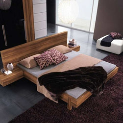 Gap Modern Platform Bed By Rossetto - Influenced by the peace of nature,the Gap Modern Platform Bed features a warm walnut finish to complement any bedroom. The simplicity of its clean lines and its utter functionality are a mark of quality Italian design and workmanship.