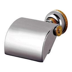 Versace - Versace Classic Chrome Gold Toilet Paper Roll Holder - Versace Toilet Paper Holder