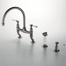 Easton Classic Gooseneck Two Hole Kitchen Mixer - Easton is a timeless escape and draws on the deep waters of Edwardian style. Easton is the most extensive family in the Waterworks collection, with a range of moods from traditional to modern, and a selection of products from fittings to furniture.